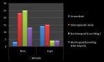 Graf som viser utdanningsnivå pr. kanal